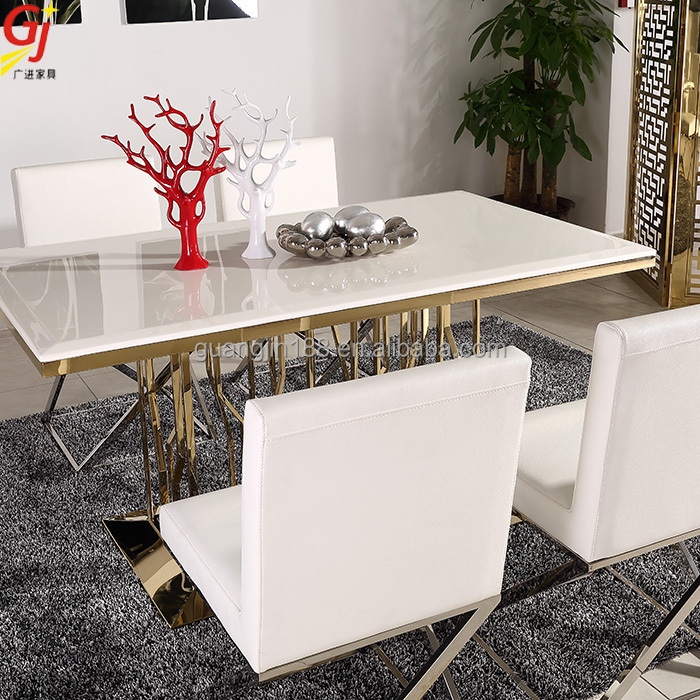 Dining Room Furniture Marble Dining Table Set Dt 2008