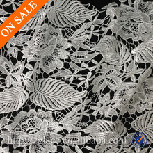 Luxury polished emboridery swiss french chemical lace fabric