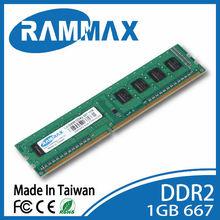 Taiwan COUPUTER PARTS MEMORY RAM desktop stick,ddr2 ram 1gb 667mhz Lo-Dimm,ddr1 ddr3 2gb 4gb 8gb 400 667 800 1333 1600