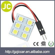 Hot wholesale Special 5050 led car light 12v pcb 24chips led car white dome lincense plate