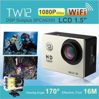 16MP Waterproof HD Wifi Mini Action Camera 60fps 170 Degree Wide Angle