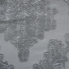Europea de lujo clásico patrón de cortina de voile 100% decoración de poliéster para estrellas del hotel