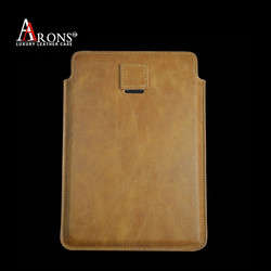 Top grain leather pouch style case for ipad air 2 leather case