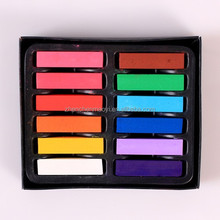 12 color 2 packing Top selling Temporary Color Hair Chalk In Gift Tin Ready color chalk for hair