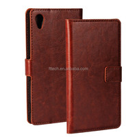 smart Genuine leather wallet case for sony Xperia M4 Aqua phone case with card slot