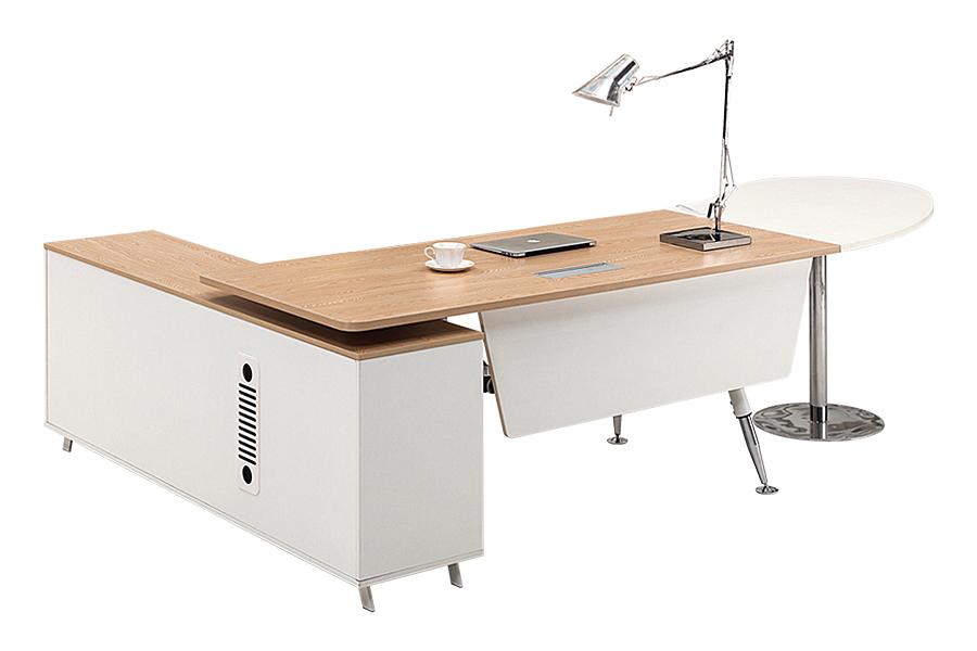 Fantastic Tempered Glass Office Desk Boss Desk Table Commercial Office Furniture