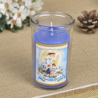 Promotional Packing 24pcs/Box Small Glass Candle