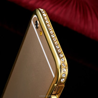 Hot sale crystal bling back sublimation mobile case cover for apple iphone 6