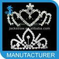 de alta calidad baratos de navidad corona de la tiara con diamantes de imitación