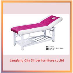 steel frame blue massage table steel frame