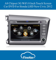 A8 Chipset 3G WiFi Car DVD Video Player For Honda LHD New Ci vic 2012 With GPS Radio Bluetooth S100 Support DVR +Free Map