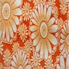 3d burnt flowers soft minky fabric