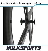 700c Wheels Aero Carbon 4 Spoke Wheel REAR 3k/12K/UD Matte/GlossyClincher for FIX Bike High-performance Bicycle Four Spoke Wheel