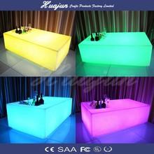 lighting outdoor table / led long bar table