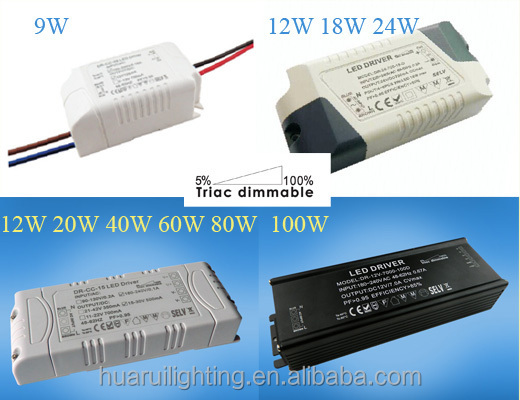 20w Single output Triac Dimmable Led driver CC and CV.5-100% dimming