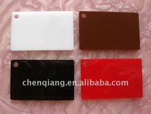 White plexiglass sheets