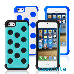 2 in 1 Polka Dot Mobile Case Cover for iPhone 5C/5S/4S/S4
