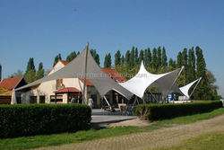 China made large PVDF carport tent for sale for basketball courts