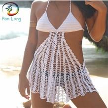 Crochet bikini ladies beachwear plus size triangle bikini top