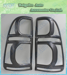 carbon fiber taillight covers rear light trims for 2012Toyota hilux vigo Pickup truck auto accessoires