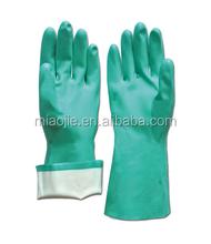 Hogar de nitrilo flcoklined guantes