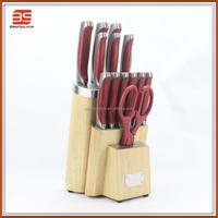 High quanlity 14pieces PP handle Kitchen knife set