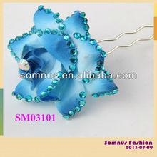Somnus Wedding Crystal Metal Hair Forks Wholesale Hair Accessory Flower Hair Fork