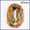 HZW-13595 Polyester thin spring circle pattern print hot korea muffler scarf