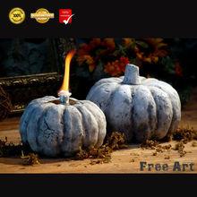 Antique handmade crackle pumpkin cheap oil burner