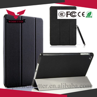 for Ipad 6/air 2 Three Fold Silk Smart Wake Clear Leather Case for Ipad Mini 1 2 Retina 3 Luxury Stand Cover for Ipad 5 Air