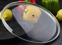 China factory clear tempered cookware parts glass fry pan lid