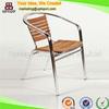 (SP-OC706) Wholesale armrest wooden aluminum garden chair