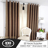 European style high quality hot selling aux linen blackout window curtain