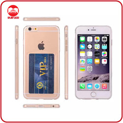 One Body Soft TPU Transparent Ultraslim Silikon Ultra Thin Silicone Case For Iphone 6 With Card Slot