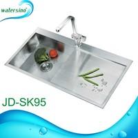 kitchenware with drainer heat handmade stainless steel kitchen sink