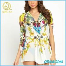 Embellished Tie Print Kaftan For Women Summer Wear