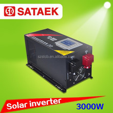 high efficiency solar panel inverter 24v 220v 3000w with charger