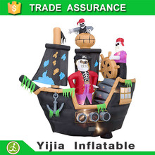New Outdoor Yard Decoration Lights halloween inflatable Skeletons & Ghosts on Pirate Ship