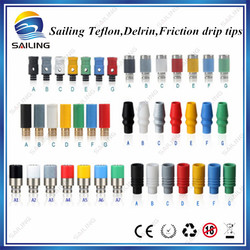 Hot seller electronic cigarette tips ,drip tip ecig, teflon plastic from Sailing factory
