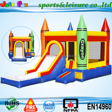 EN14960 hotsale commercial inflatable jumper with pool for sale,inflable bouncer with slide for kids