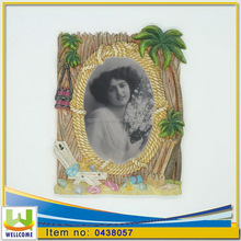 Decorative Oval Picture Frame Palm Tree