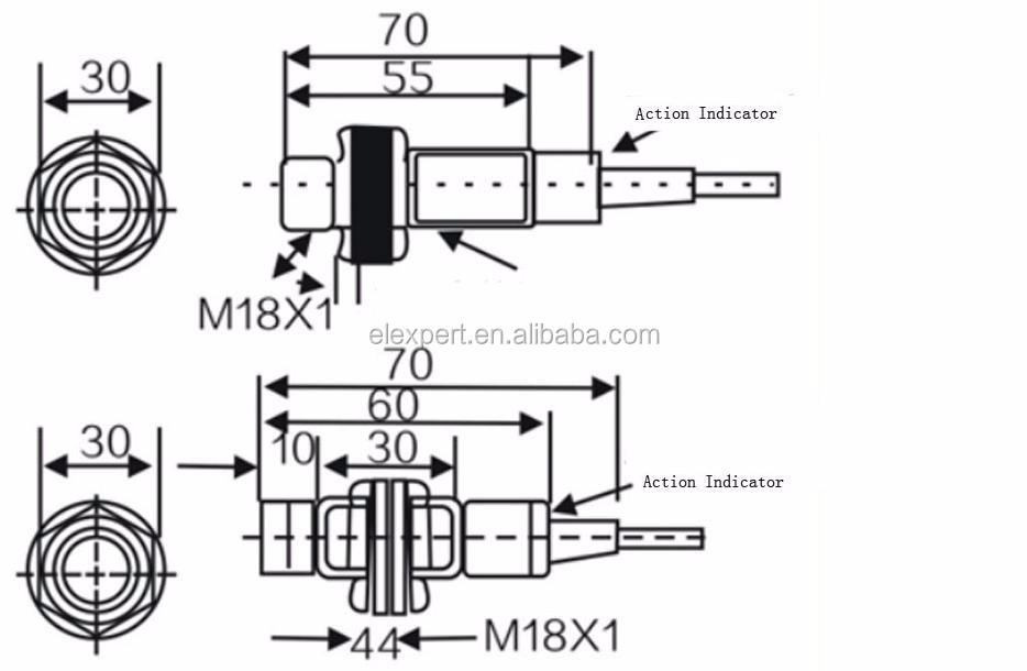 china manufacture cm18 ac  dc npn  pnp capacitance proximity