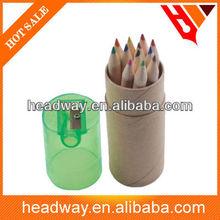 12 pcs paper tube natural colour pencil