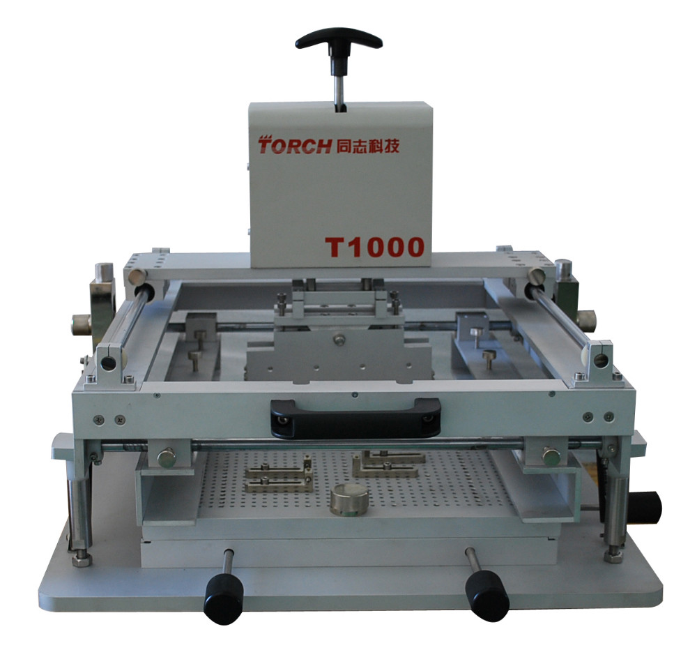 Smt Pcb Desk Small Solder Paste Stencil Printing Machine Fix Circuit Board 1put And Pcbprinted At The Bottom Of Moulding 2put Into Inside Template Scraper Is Moved By Drive Device