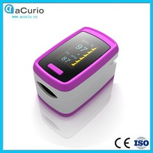 Multi Color Options SpO2 Pusle Rate Fingertip Oximeter with Alarm BB Voice Munually Setting OLLED Screen