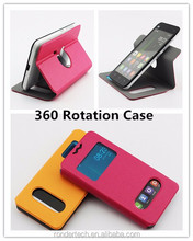 360 leather rotation phone case for iphone revolve leather case for samsung