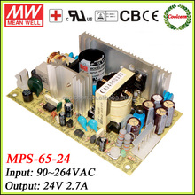 Meanwell smps power supply transformer 24v 2.7a MPS-65-24