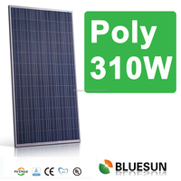 BlueSun China best mono and poly 5w to 320w pv module solar panel price list