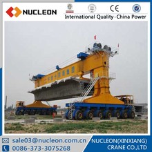 Heavy duty 900t Move Girder Crane Pneumatic Girder Crane Bridge Erection project gantry Cranes