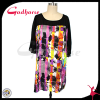 Fashion popular plus size women clothing, printed dress